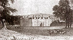 The house at Wallingwells in the 1820s.