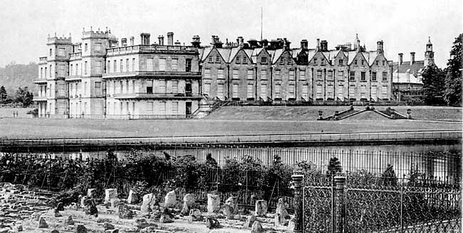 The east front of Welbeck Abbey in 1900.