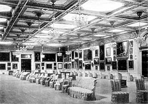 Picture Gallery at Welbeck Abbey, c.1900.