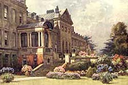 The north front of Welbeck Abbey in 1910.