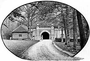 Tunnel entrance at Welbeck Abbey.
