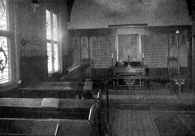 THE OLD AUDIT ROOM. NOW CONVERTED INTO CHAPEL FOR DAILY SERVICE.