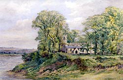 View of Wilford Church by Samuel W. Oscroft (image courtesy of Nottingham City Museums).