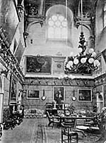 The Great Hall at Wollaton Hall, pictured in the early 20th century.