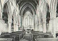 The interior of St Johns, Worksop, in 1900.
