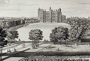 The Elizabethan Worksop Manor as seen in the 18th century.