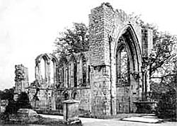 Ruins of St Mary's Chapel in the early 1900s.