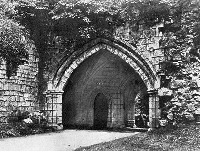 Entrance gateway, Roche Abbey.